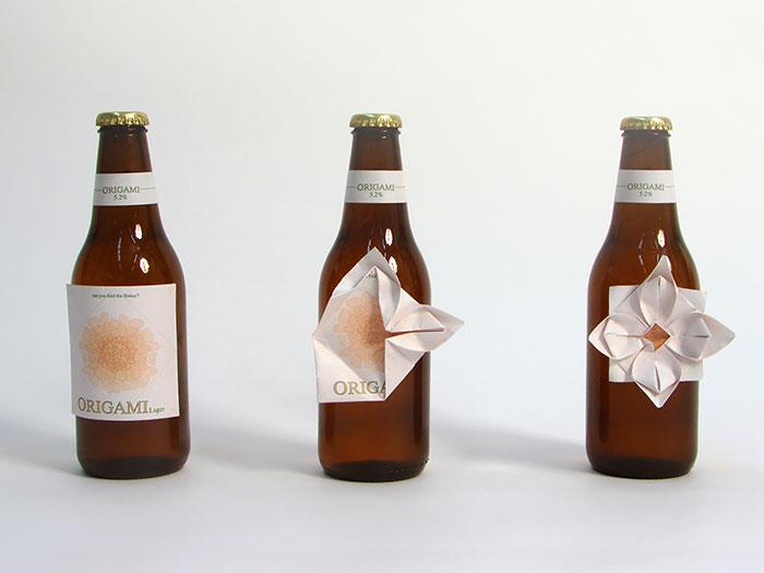 Упаковка для пива с оригами